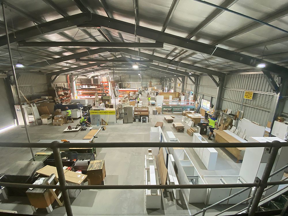 Campbells Kitchens Townsville workshop